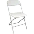 Where to rent CHAIR, FOLDING PLASTIC WHITE in Burton MI